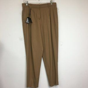 NWT Massimo Dutti Brown Wool Pleated Dress Pants